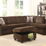 Belville Chocolate Sectional Sofa