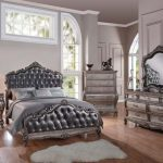 Chantelle Collection Antique Platinum Bedroom Set