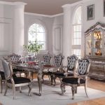 Chantelle Collection Antique Platinum Dining Set