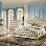 Chantelle Collection Pearl White Bedroom Set