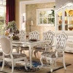 Chantelle Collection Pearl White Dining Set