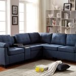 Cleavon Blue Sectional Sofa