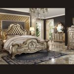 Dresden Collection Gold Bedroom Set