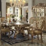 Dresden Collection Gold Dining Set