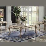 Dresden Collection Gold Living Table Set