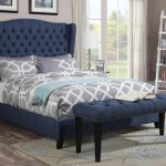Faye Blue Linen Bedroom Set