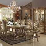 Vendome Collection Gold Dining Set