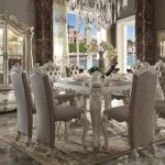Versailles Collection Bone White Dining Set