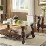 Versailles Collection Cherry Oak Living Table Set