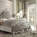 Versailles Collection Vintage Gray Bedroom Set