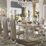 Versailles Collection Vintage Gray Dining Set
