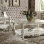 Versailles Collection Vintage Gray Living Table Set