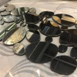 Glam Glass Oval Mirror
